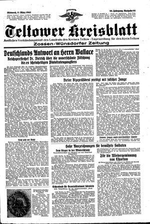 Teltower Kreisblatt vom 17.03.1943