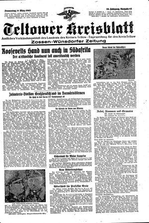 Teltower Kreisblatt vom 18.03.1943