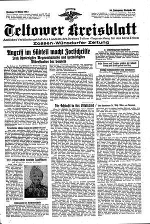 Teltower Kreisblatt vom 19.03.1943