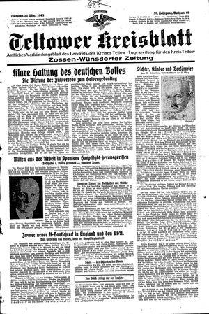 Teltower Kreisblatt vom 23.03.1943