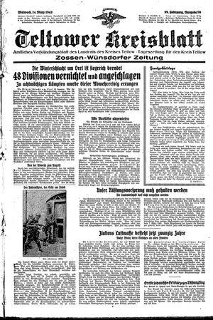Teltower Kreisblatt vom 24.03.1943
