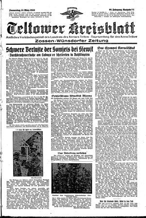 Teltower Kreisblatt vom 25.03.1943