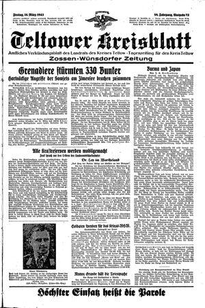 Teltower Kreisblatt vom 26.03.1943