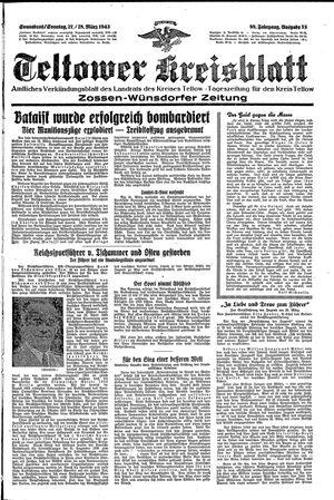Teltower Kreisblatt vom 27.03.1943