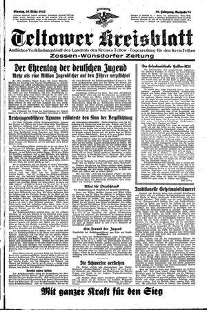 Teltower Kreisblatt vom 29.03.1943
