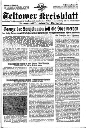 Teltower Kreisblatt vom 31.03.1943
