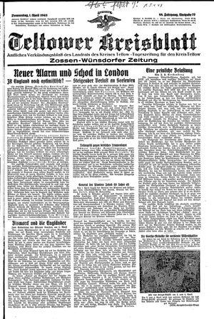 Teltower Kreisblatt vom 01.04.1943