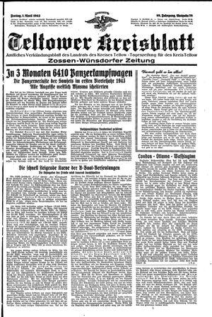 Teltower Kreisblatt vom 02.04.1943