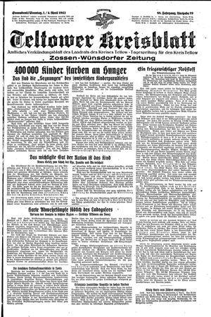 Teltower Kreisblatt vom 03.04.1943