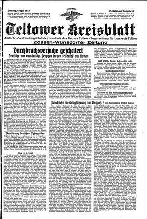 Teltower Kreisblatt vom 06.04.1943