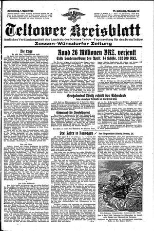 Teltower Kreisblatt vom 08.04.1943