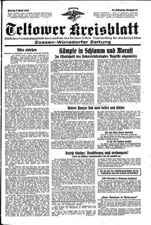 Teltower Kreisblatt vom 09.04.1943