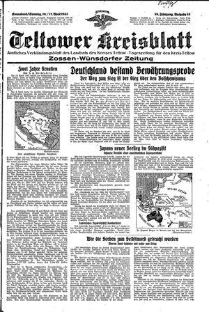 Teltower Kreisblatt vom 10.04.1943