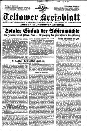 Teltower Kreisblatt vom 12.04.1943