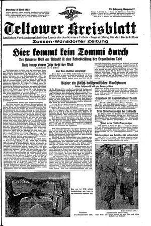 Teltower Kreisblatt vom 13.04.1943