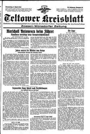 Teltower Kreisblatt vom 15.04.1943