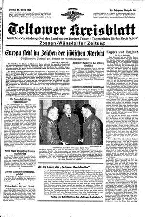 Teltower Kreisblatt vom 16.04.1943