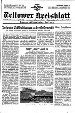 Teltower Kreisblatt vom 17.04.1943