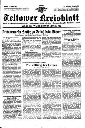 Teltower Kreisblatt vom 19.04.1943