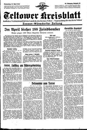 Teltower Kreisblatt vom 22.04.1943