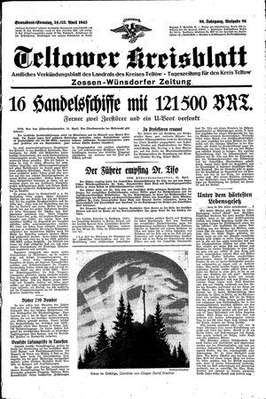 Teltower Kreisblatt vom 24.04.1943