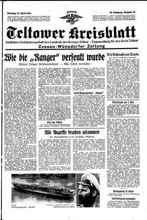 Teltower Kreisblatt vom 27.04.1943