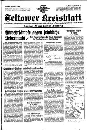 Teltower Kreisblatt vom 28.04.1943