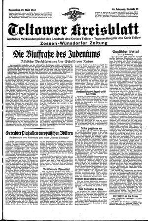 Teltower Kreisblatt vom 29.04.1943