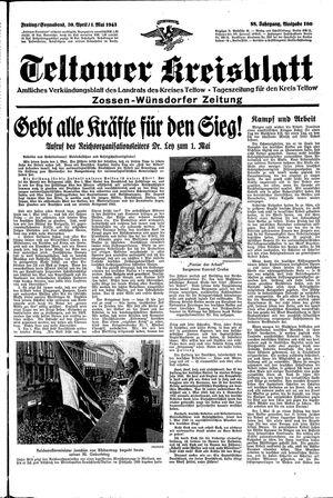 Teltower Kreisblatt vom 30.04.1943