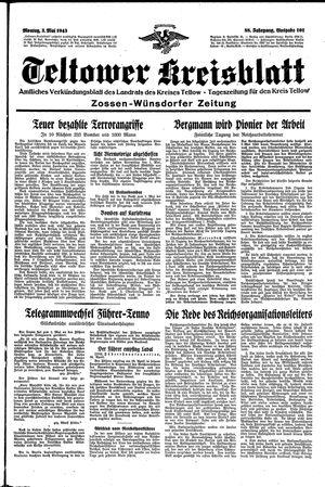 Teltower Kreisblatt vom 03.05.1943