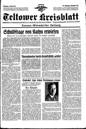 Teltower Kreisblatt vom 04.05.1943