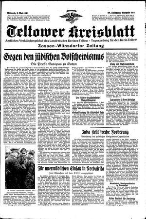 Teltower Kreisblatt vom 05.05.1943