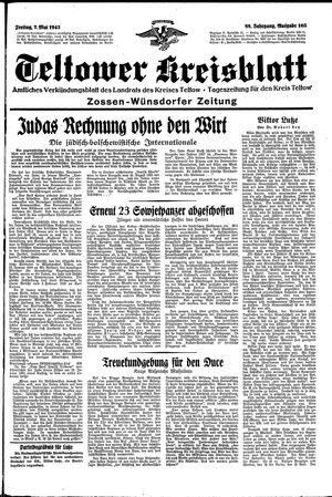 Teltower Kreisblatt vom 07.05.1943