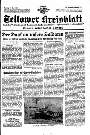 Teltower Kreisblatt vom 11.05.1943