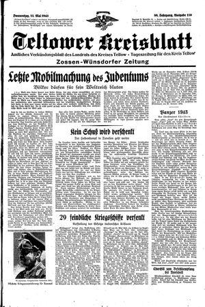 Teltower Kreisblatt vom 13.05.1943