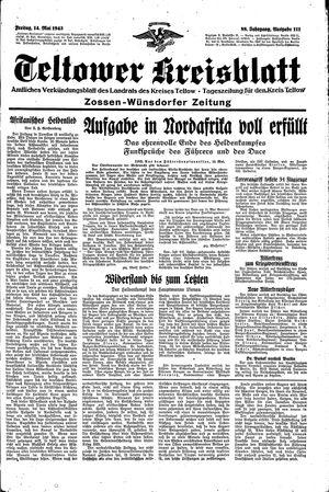 Teltower Kreisblatt vom 14.05.1943
