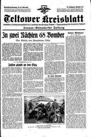 Teltower Kreisblatt vom 15.05.1943