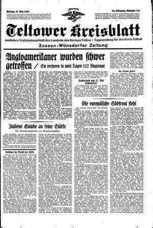 Teltower Kreisblatt vom 17.05.1943