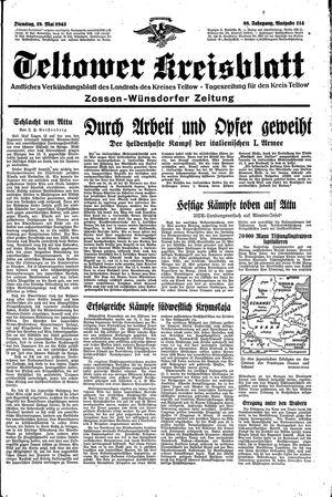 Teltower Kreisblatt vom 18.05.1943