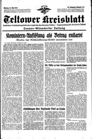 Teltower Kreisblatt vom 24.05.1943