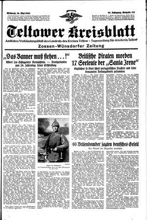 Teltower Kreisblatt vom 26.05.1943