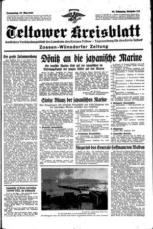 Teltower Kreisblatt vom 27.05.1943