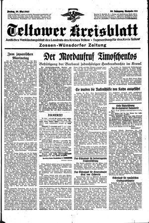 Teltower Kreisblatt vom 28.05.1943