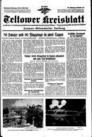 Teltower Kreisblatt vom 29.05.1943