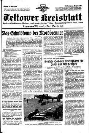 Teltower Kreisblatt vom 31.05.1943