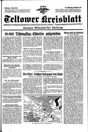 Teltower Kreisblatt vom 01.06.1943