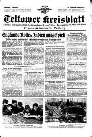Teltower Kreisblatt vom 02.06.1943