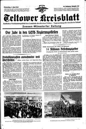 Teltower Kreisblatt vom 03.06.1943