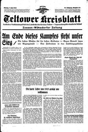 Teltower Kreisblatt vom 07.06.1943