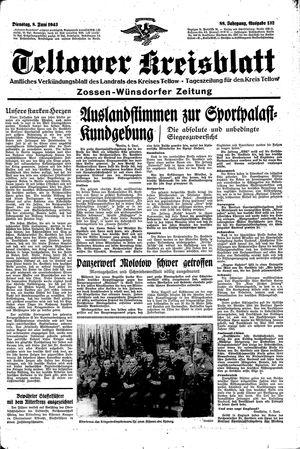 Teltower Kreisblatt vom 08.06.1943